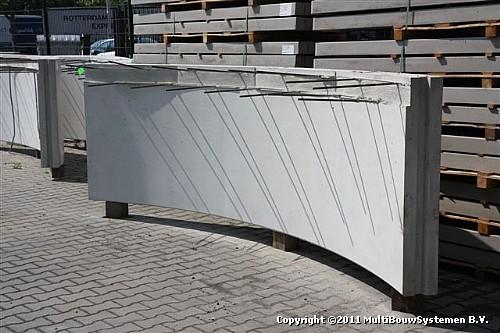 Ronde prefab betonelementen