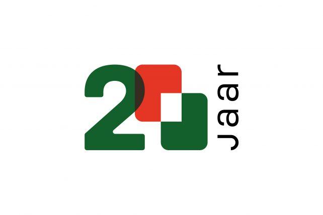 Jubileum logo MBS Groep 20 jaar