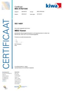 MBS GROEP ISO 14001