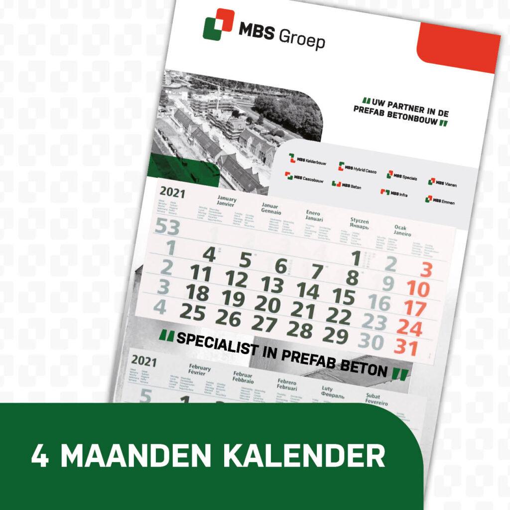 MBS Groep 4 maanden kalender