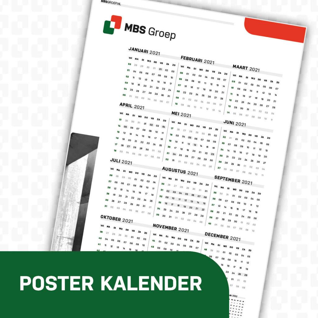 MBS Groep poster kalender